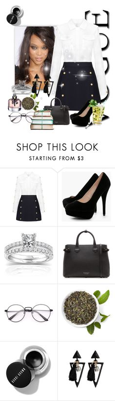 """Untitled #7960"" by princhelle-mack ❤ liked on Polyvore featuring Boohoo, Annello and Burberry"
