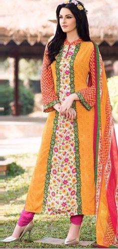 Pakistani dresses Floral Prints Collection 2017-18  #dresses