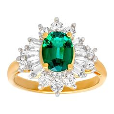 2 1/3 ct Created Emerald