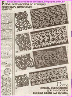 191 Immagini Incredibili Di Bordi Uncinetto Crochet Borders
