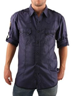 Two Stoned Navy Cross Pocket Shirt Two Stoned Cross Pocket Shirt - Mens shirt from Two Stoned - Slim fitting style - Two Stoned emblem to sleeve - Epaulettes on shoulders - Chest pockets - Stylish rolled up sleeve attachment - Product  http://www.comparestoreprices.co.uk/mens-clothes/two-stoned-navy-cross-pocket-shirt.asp