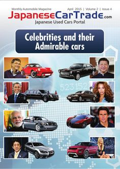 JCT Magazine's Issue 4 of Volume 2 elaborates world's renowned celebrities and their admirable cars.