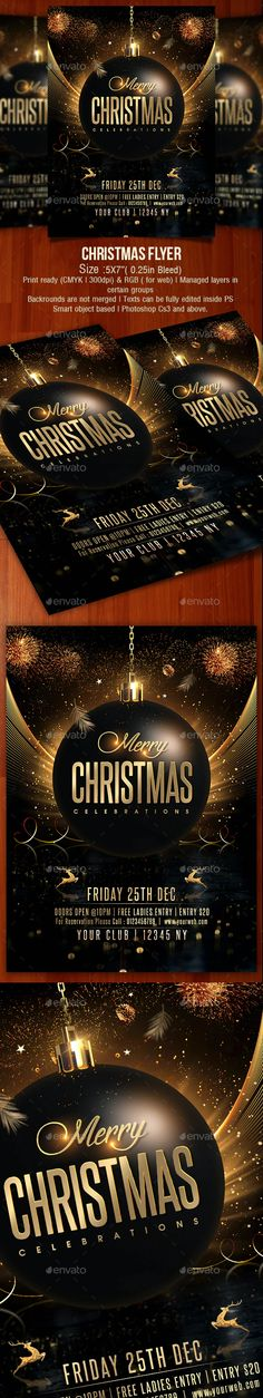 Christmas Flyer by creativevalues   GraphicRiver Christmas Flyer, Gold Christmas, Christmas And New Year, Merry Christmas, Xmas, Party Flyer, Valentines, Merry Little Christmas, Valentine's Day Diy