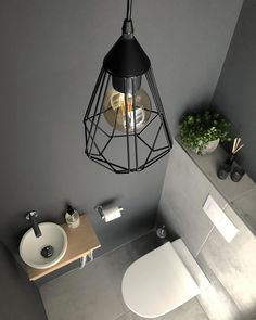 Small Downstairs Toilet, Small Toilet Room, Guest Toilet, Bathroom Design Luxury, Bathroom Design Small, Bad Inspiration, Bathroom Inspiration, Open Plan Kitchen Living Room, Toilet Design
