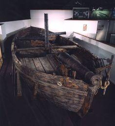 Gunboat Philadelphia in the museum.