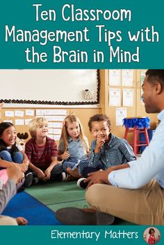 Ten Classroom Management Tips with the Brain in Mind Ten Classroom Management Tips with The Brain in Mind: These tips are research based, and will help teachers manage their classrooms and ensure learning will happen! Counseling Activities, Teaching Activities, Teaching Resources, Teaching Ideas, Group Counseling, Classroom Activities, Classroom Management Strategies, Behavior Management, Kindergarten Classroom Management