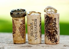 Wine Corks Wedding Picture