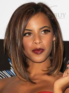 Latest Stylish Fascinating 100% Human Hair Tailored Medium Bob Hairstyle Straight Full Lace Wig about 12 Inches