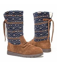 Look at this Cognac Geometric Barbara Boot - Women on #zulily today!