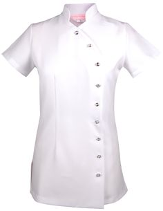 Salon Spa Beauty Beautician Hairdressers Nails Massage Uniform Tunic White LMD   eBay