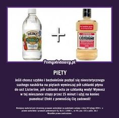 Niezwykły trik na ekspresowy peeling pięt! Listerine, Simple Life Hacks, Natural Cosmetics, Good Advice, Perfect Body, Face And Body, Body Care, Health And Beauty, Natural Remedies