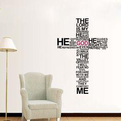 family wall decal quote faith hope love bible verses art mural psalms vinyl stickers bedroom bohemian decor living room design interior cyber pinterest