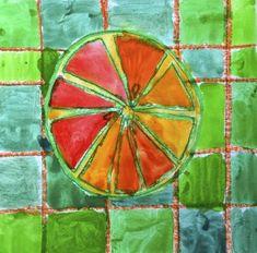 Citrus fruits in complementary colors Will Turner, Color Studies, Art Studies, Fruit Art Kids, Teaching Art, Teaching Ideas, Citrus Fruits, Art Techniques, Preschool Activities