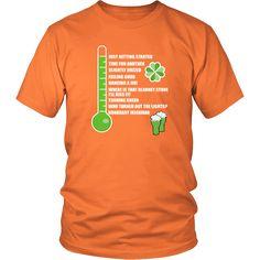 "Saint Patrick's Day - "" Irish Drinkometer "" - custom made funny t-shirts, original gifts."