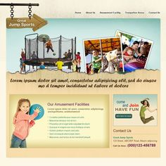 Great Jump Sports - Web Page Design