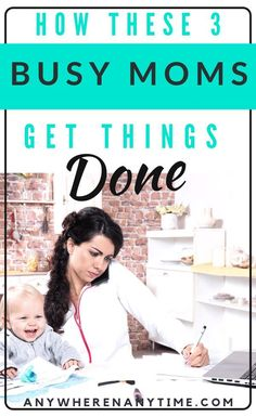 It's tough being a work at home mom, and taking care of your kids and your job can be quite the juggling act. If time management isn't your strong suit, you'll definitely want to check out these tips from the experienced moms who have done it all! Successful Home Business, Work From Home Business, Online Work From Home, Successful Online Businesses, Work From Home Moms, Starting A Business, Successful Women, Business Ideas, New Parent Advice