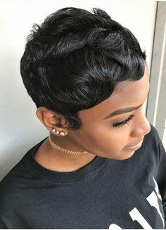 Short Sassy Hair, Short Black Hairstyles, Pretty Hairstyles, Straight Hairstyles, Short Styles, Pixie Styles, Gorgeous Hair, Love Hair, Short Hair Cuts