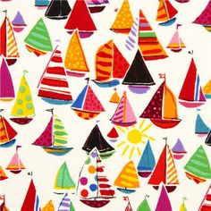 Colourful sailing boats by Alexander Henry