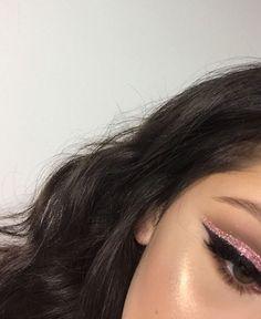 #beauty, #brunette, #eyeliner, #eyes, #glamour, #glitter,#makeup