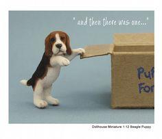Miniature dollhouse beagle puppy - Kerri Pajutee - 2442861