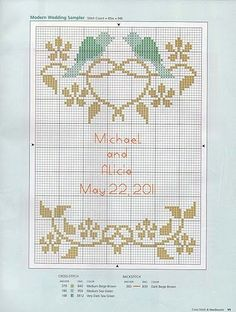 Cross Stitch Wedding Couple Pa