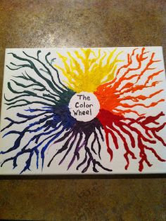 Planting Ideas: Melted Crayon Art Color Wheel