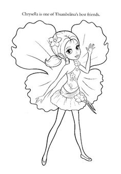 Barbie Thumbelina coloring page 21 | Barbie coloring book ...
