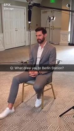 Richard Armitage at Snapchat for Berlin Station July 30 2016