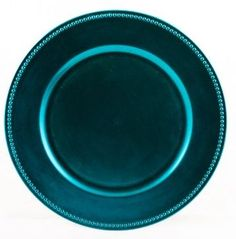 Peacock Blue Beaded Charger Plates - For you, your bridal party, and their spouse/significant other