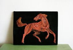 vintage-horse-string-art very nice... maybe by muscle layers?