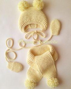 🎀Всем привет!) сегодня довязала шапочку, шарфик и варежки для 👼, размер 3-6 мес, цвет нежно желтый в полумериносе, и тепло и цена приятная!) 🎀#шапочки_для_лапочки #ровныепетельки #инстамама #инстадети #вязание #моялюбовь #шапочкасушками #дляноворожденных #счастливаямама #knitting #knit #instaknit #crochet #vscospb #vsco#ручнаяработа #новорожденым #вяжуназаказ #💛 #ваниль #просто #красиво #тепло #сказка #kuzbass #sibiria #kemerovo #instakids #instalike