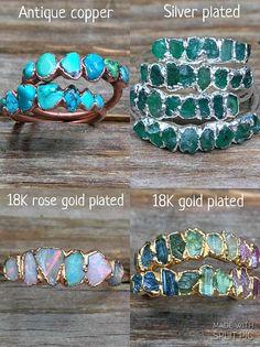 Raw Opal Ring, Raw Diamond Rings, Raw Gemstone Ring, Tanzanite Ring, Tourmaline Necklace, Gemstone Jewelry, Schmuck Design, Raw Gemstones, Diamond Engagement Rings