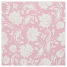 White Damasks With Custom Pastel Pink Background