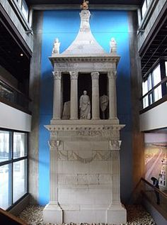 Funeral monument of Lucius Publicius Cologne, Germany 40 CE Lucius Publicius, from Teretina in Italy, served years with the Fifth Legion of the Roman Army. Grave Monuments, Eifel, Cologne Germany, Dom, Funeral, Italy, History, Masters, Antique
