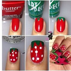 Stawberry nails