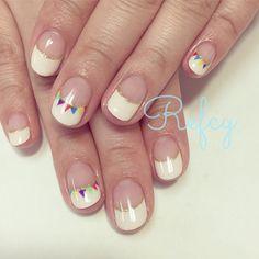 nail french cute