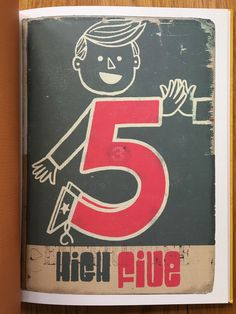From a signed copy of illustrator Paul Thurlby's book 'Numbers'.