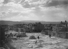 View of Acoma Pueblo, New Mexico  Photographer: Edward S. Curtis Date: 1905 - 1925? Negative Number 144511 via Palace of the Governors Photo FB