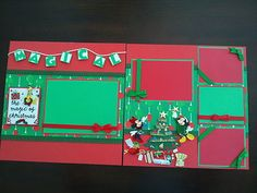 "12""x12"" Disney Magic of Christmas 2 Page Scrapbook Layout w Diecuts Stickers 