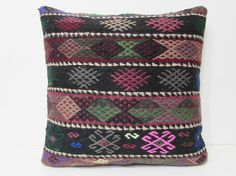 kilim pillow 24x24 euro sham pillow cover by DECOLICKILIMPILLOWS
