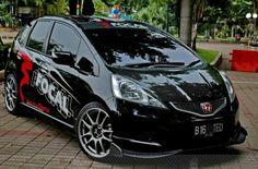 Honda jazz Honda Vtec, Honda Civic, Honda Jazz Modified, Personal Jet, Honda Fit, Honda Cars, My Dream Car, Dream Cars, Tuner Cars