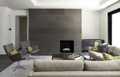 Modern Concrete Fireplace Surrounds and Tiles | Gallery | Paloform