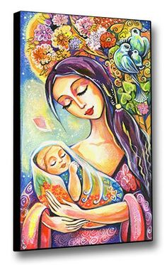 Mother and Baby  Nursery Art  Maternity  Tree of by evitaworks, $34.00