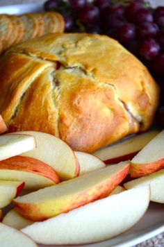delicious appetizers with photos | Crescent Roll Baked Brie – a DELICIOUS appetizer. Spread strawberry ...