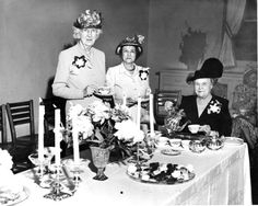 Girls Welfare Home   1949: The Girls Welfare home had its annual open house. Shown at the tea table are, from left, Mrs. Victor Dewein, Mrs. J.D. Johnson and Mrs. Guy Scovill. The home board was hostess with the girls and the staff. The welfare home is a red feather agency of the Community Chest. (H file photo)