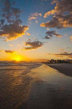 Sunset, Barra da Tijuca beach, Rio de Janeiro, Brazil