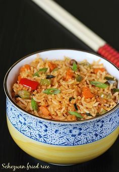 schezwan fried rice recipe – a veg fried rice recipe from Indo-chinese cuisine and quite popular on the restaurant menus. It is mildly hot and flavored with unique blend of sauces.   how to make schezwan fried rice recipe 1. Wash soak and cook rice till al dente, grainy and not mushy. Set aside to …