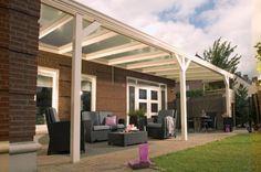 Moderne terrasoverkapping voor veranda. Door bjornfranken