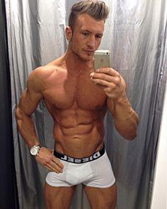 Nigel Calland in a mirror selfie packing a full Diesel brief