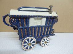 Gypsy Caravan Blue Teapot The Teapottery Company Swineside